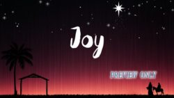 Christmas Joy Title Background Loop