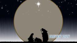 Nativity Scene Under The Star Light