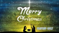Merry Christmas Text Nativity Background