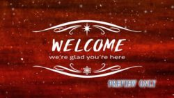 Christmas Red Welcome Background