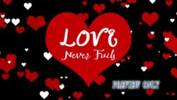 Love Never Fails Background
