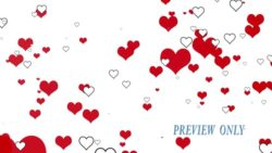 Red And White Hearts Background