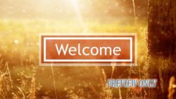 Glorious Morning Welcome Background