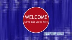 Red And Blue Welcome Background