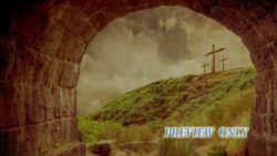 Vintage Empty Tomb And Crosses
