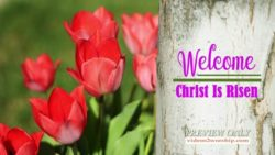 Easter Welcome Text Background