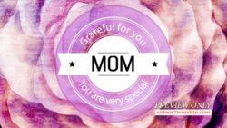Grateful For Mom Title Background