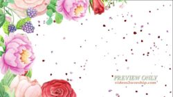 Watercolor Flowers And Petals