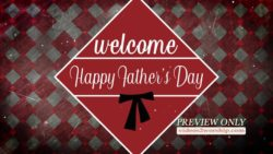 Fathers Day Welcome Title Motion