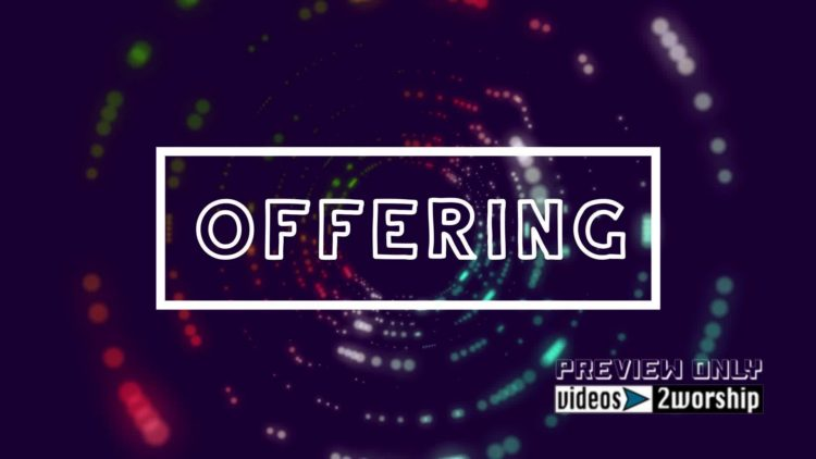 Offering Title Motion Graphics Background | Videos2Worship